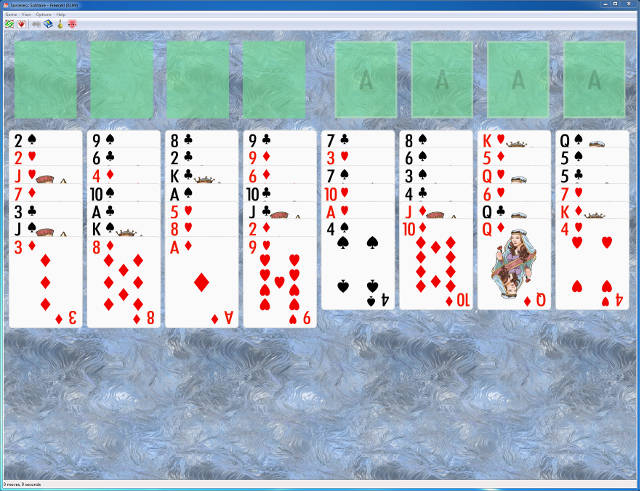 Screenshot of Sorceress Solitaire for Windows