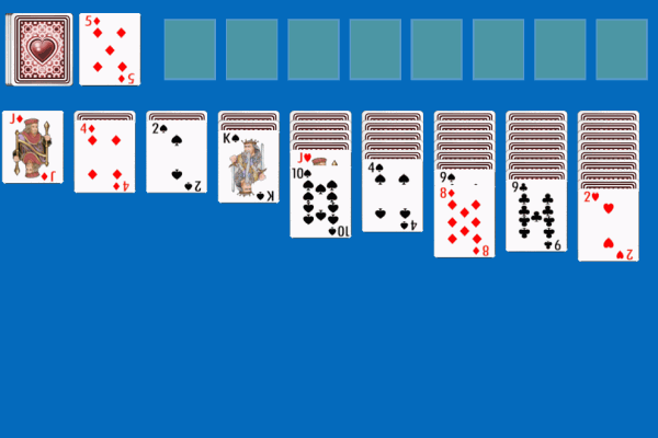 double klondike 3 card solitaire