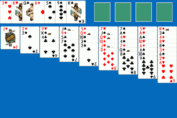 Idiots Delight Solitaire 1